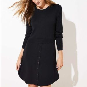 Loft Mixed Media Sweater Dress